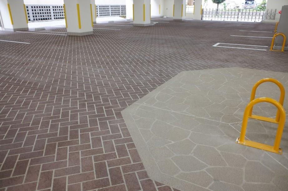 ABC商会、アスファルト床面に立体模様つける舗装材