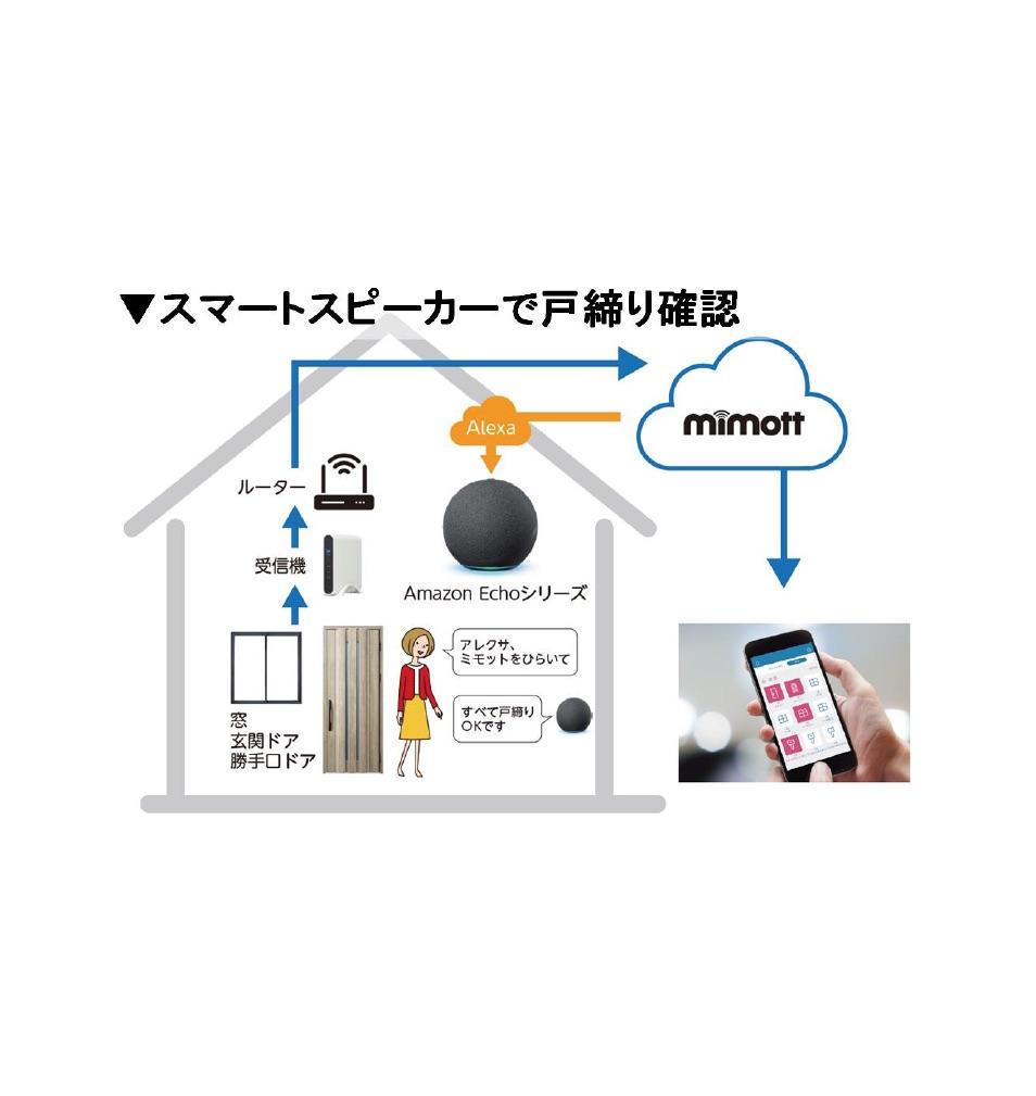 YKKAP、戸締り防止システム「ミモット」が音声対応開始