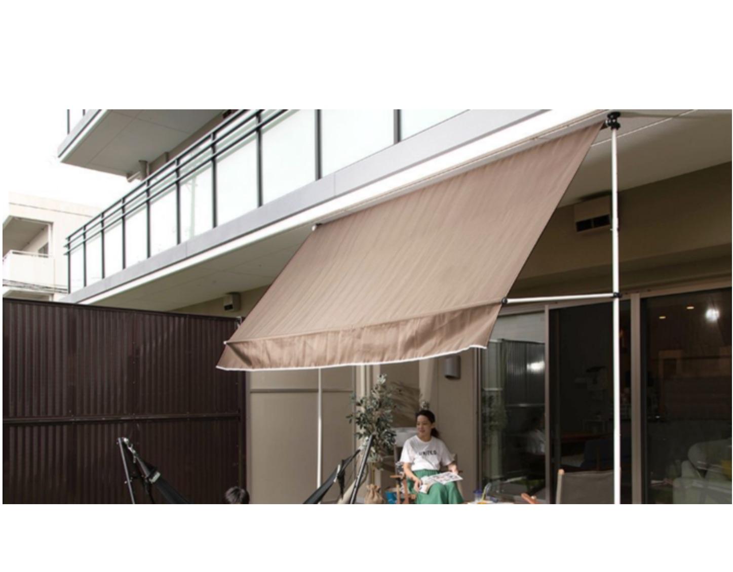 友安製作所、ビス不要の天井突っ張り式オーニングを発売