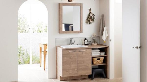 TOTO、自分好みにカスタマイズできる洗面化粧台「ドレーナ」に新アイテム