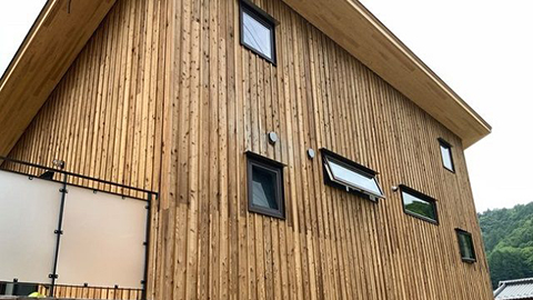 地元の間伐材生かした次世代木材の量産スタート-テオリアランバーテック