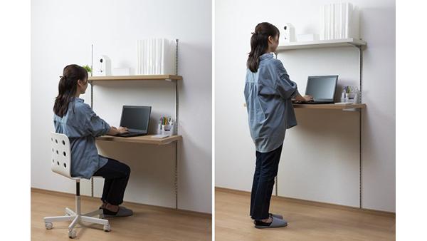 大建工業、在宅勤務向け製品を拡充 デスクに使える壁付けカウンター発売