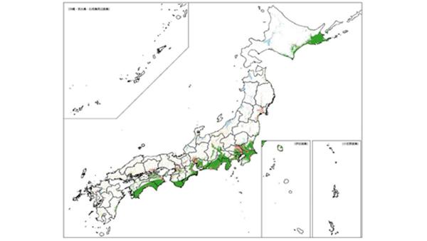 国交省、2050年の災害リスクエリア人口を予測 複数の都道府県で人口割合増加