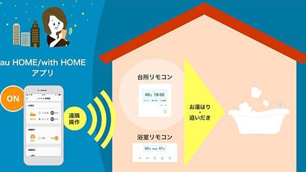 ノーリツ×KDDI 給湯器とホームIoT「au HOME」連携開始