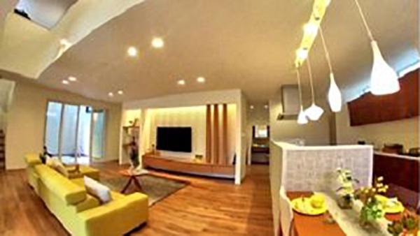 ドローンで撮影したモデルハウス見学動画を公開-彦根ベルロード住宅博