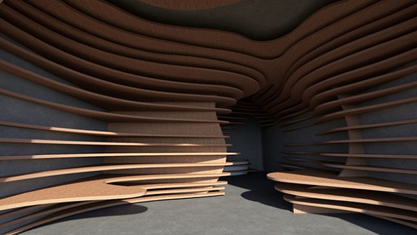 エイブル空間デザインコンペ、グランプリ作品「洞孔の家」をVRで再現