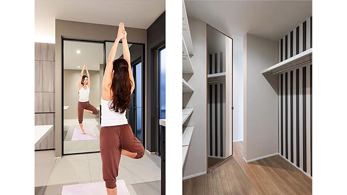 神谷コーポレーション、全面ミラーの室内ドアを発売