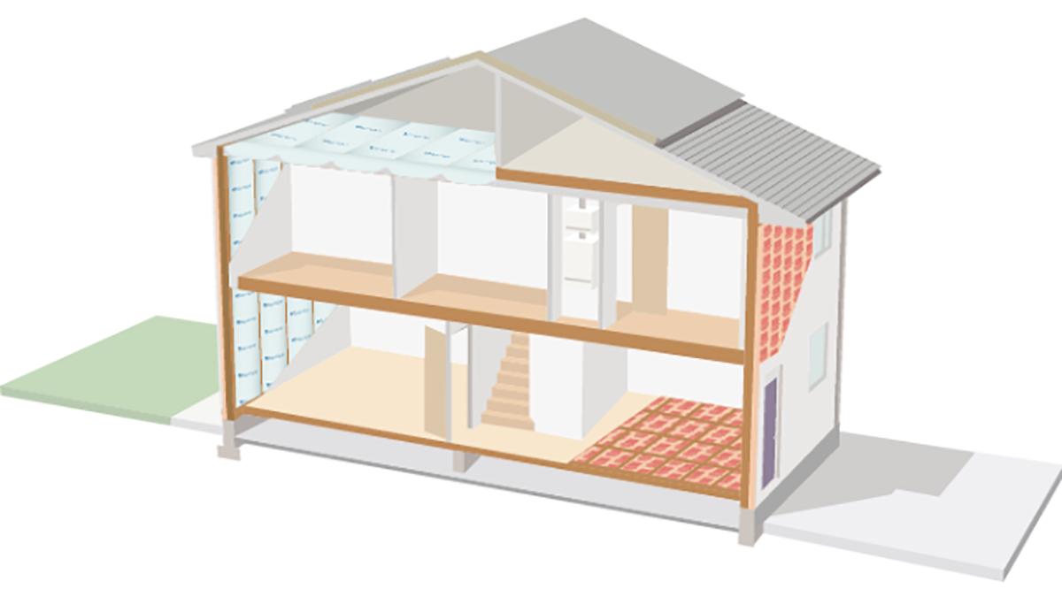 旭ファイバーと旭化成建材、両社の断熱材組み合わせG2・G3対応の仕様作成