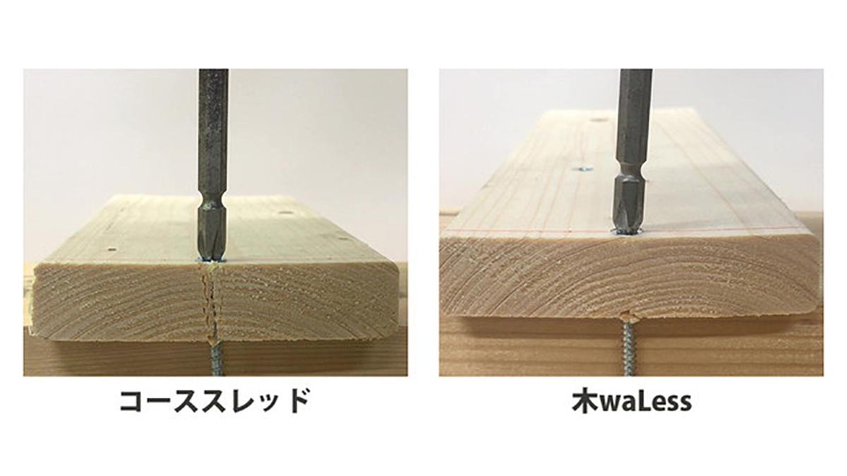 木が割れにくい「木工用造作ビス」新発売