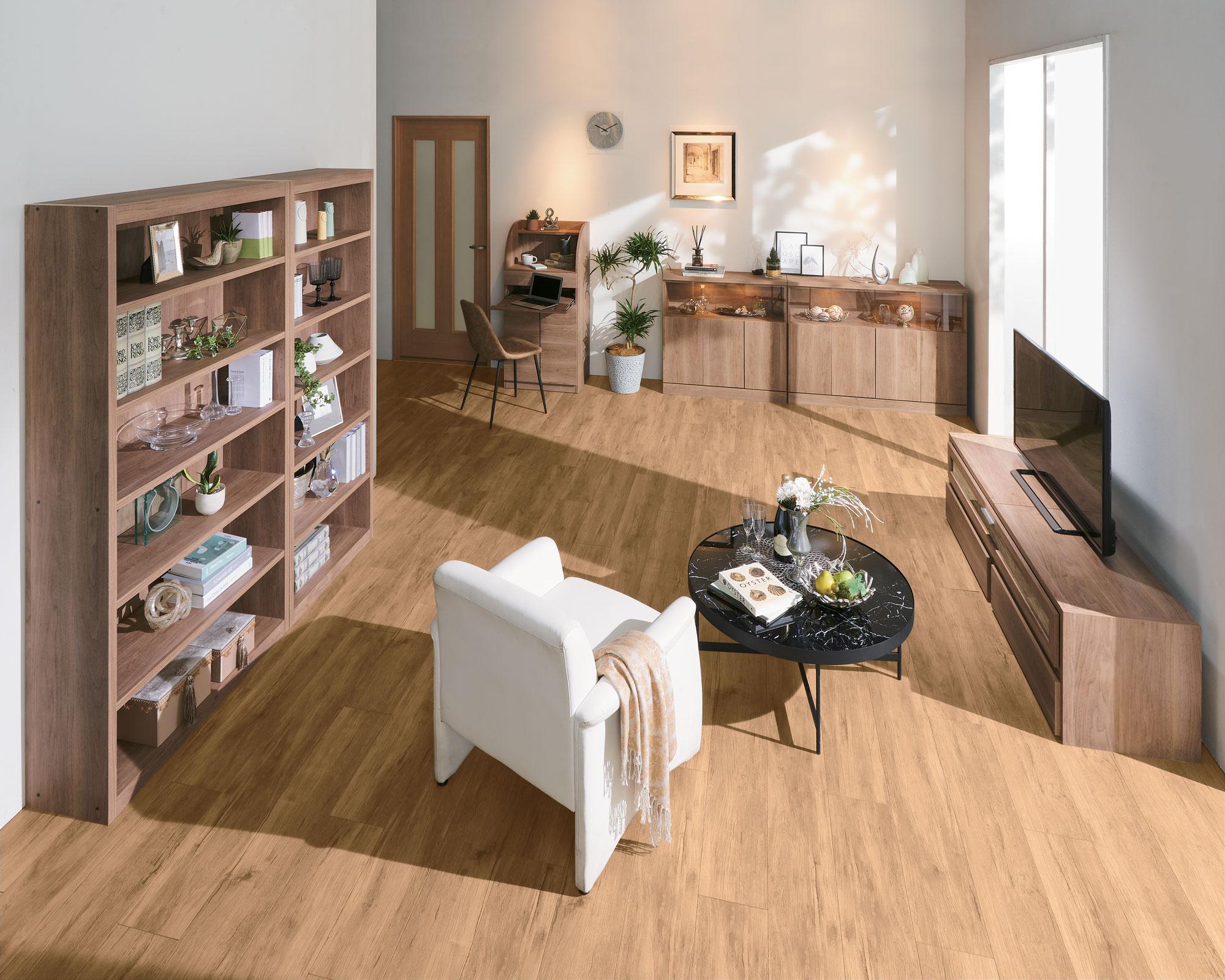 ディノス、家具11シリーズに天然木を再現した新色追加