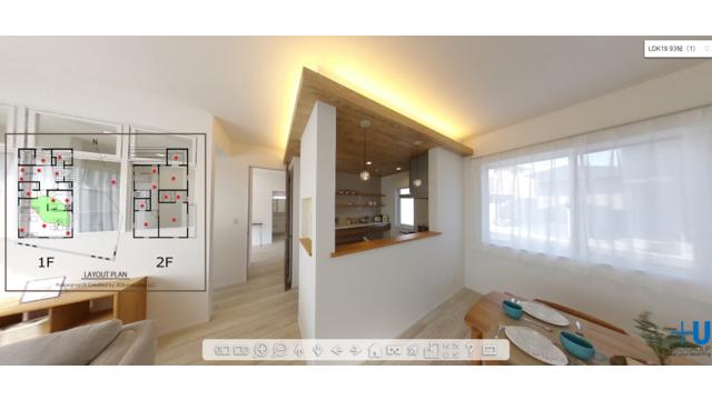 ウスイホーム、モデルハウスの360°パノラマVR公開