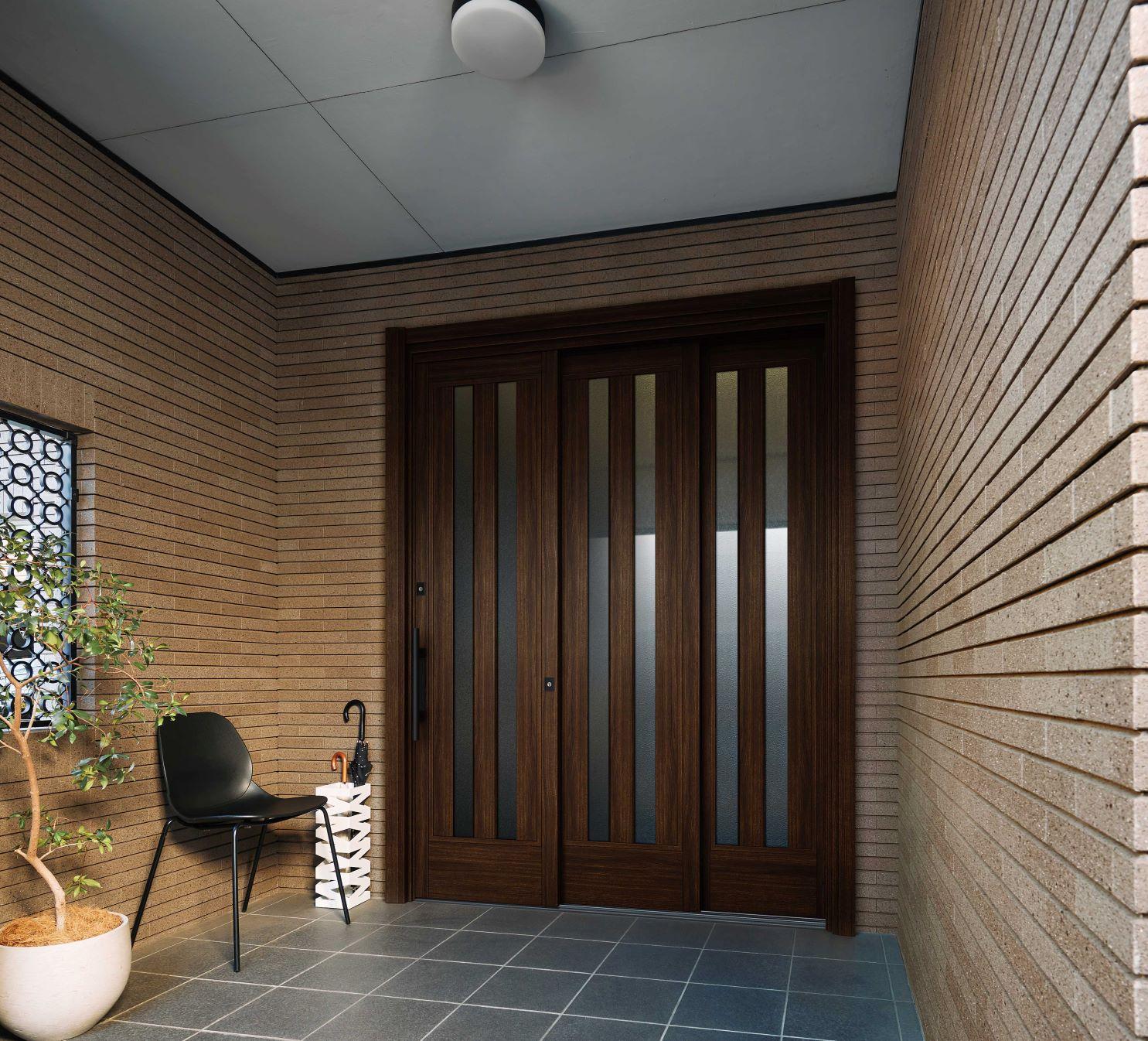 YKK AP、玄関引戸リフォームで有効開口幅を10cm広く