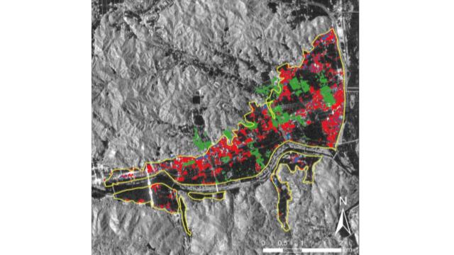 AIが報道情報から浸水建物を判別 東北大研究グループが実証