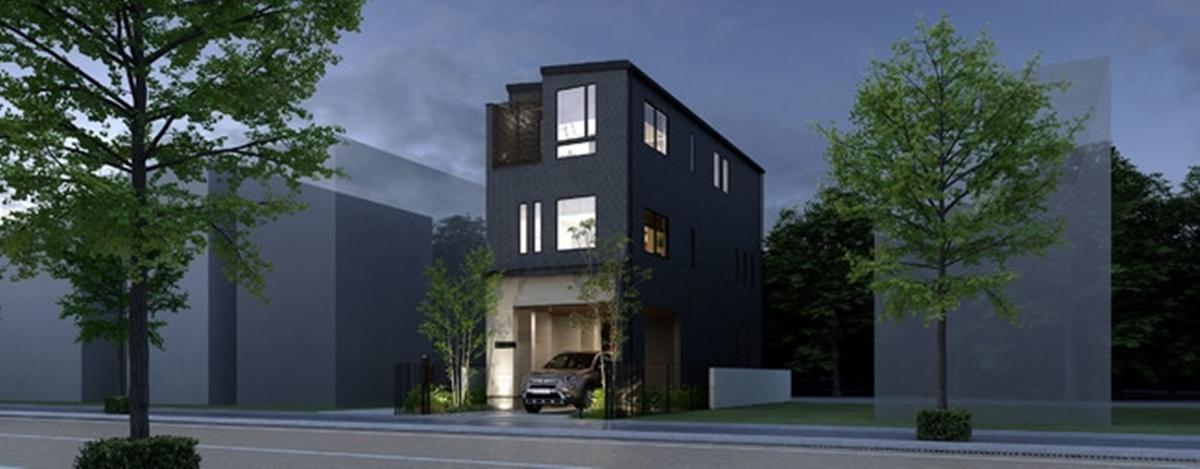ジブンハウスの都市型3階建住宅 暮らし、仕事、旅の3役