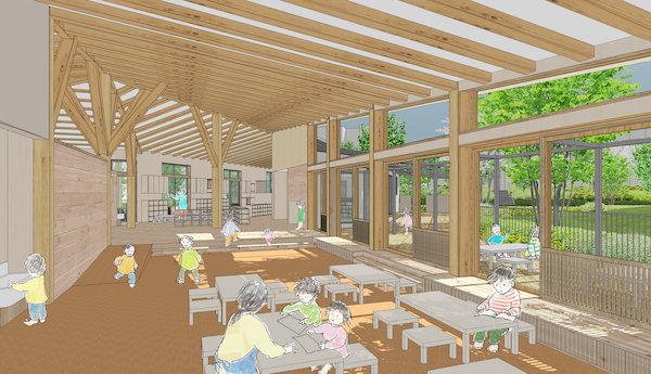 YKKグループの黒部パッシブタウン、木造保育園の建築を始動