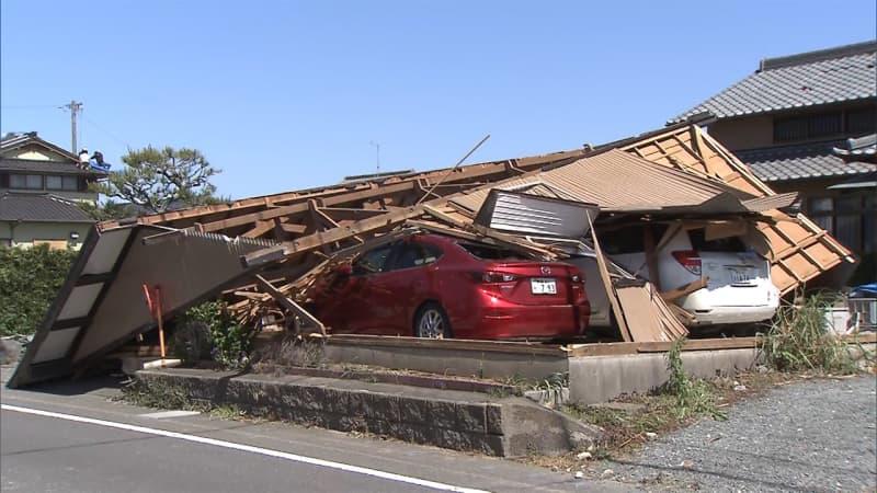 突風で被害 がれき撤去続く ボランティアも 「竜巻の可能性高い」 静岡