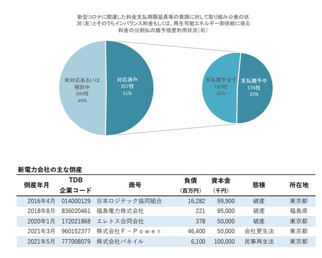 新電力会社、18年比で42.1%増加 TDB調べ