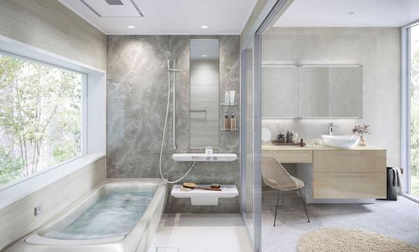 TOTO、バスルーム「シンラ」に新機能・新柄