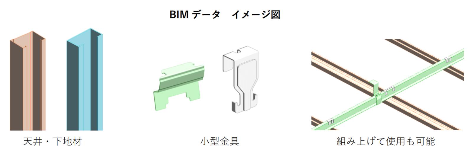 桐井製作所、天井用部材など83種のBIMデータ公開