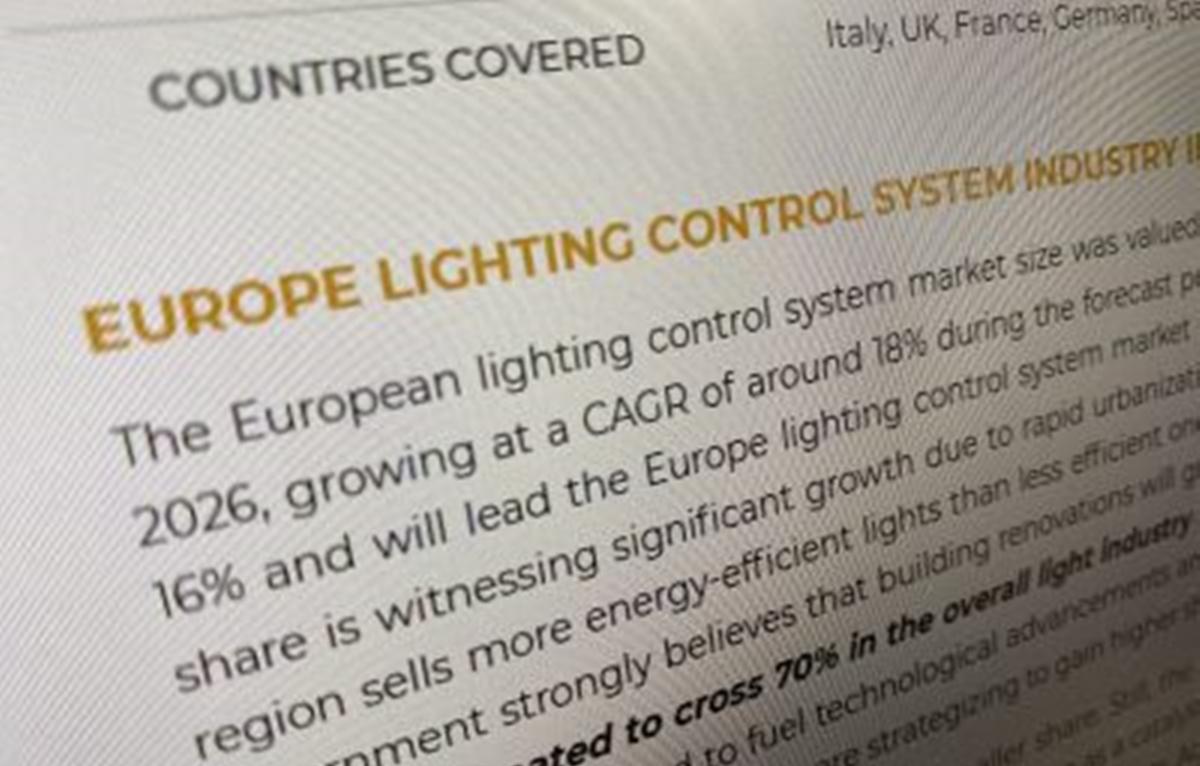 欧州IoT照明市場は2026年までに80億米ドル規模に