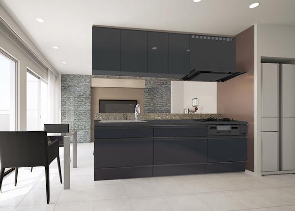 ハウステック、キッチン「カナリエ」に黒色モデル