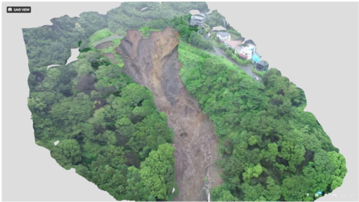 SNS・ドローン・ 3Dマップ、熱海土石流を多角的に捉えるテクノロジー