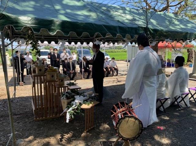 創建、東日本大震災の被災神社を無償で再建 地鎮祭を実施