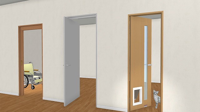 メガソフト、住空間デザイン3Dソフトに住宅向け機能性ドア