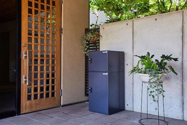 複数回の荷物が受け取れる、組み合わせ型宅配ボックス
