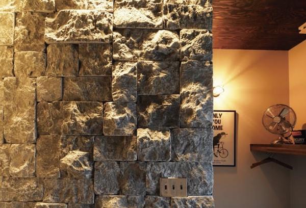 屋内外の壁に使える方形乱張り石材を発売