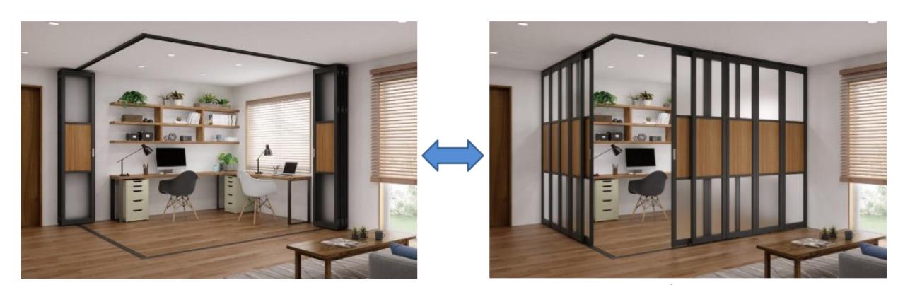 立川ブラインド、室内空間の「間仕切り」ニーズ増で商品拡充