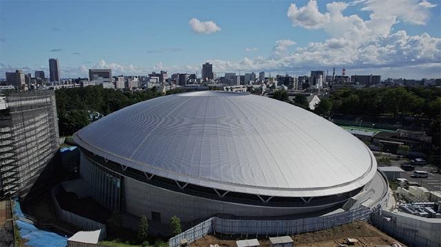 清水建設、大屋根と無柱の大空間を実現 自転車競技場が竣工