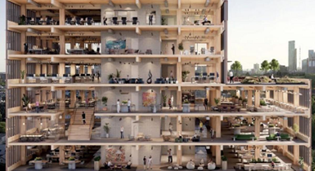 住友林業ら、豪州メルボルンで15階建木造オフィス開発