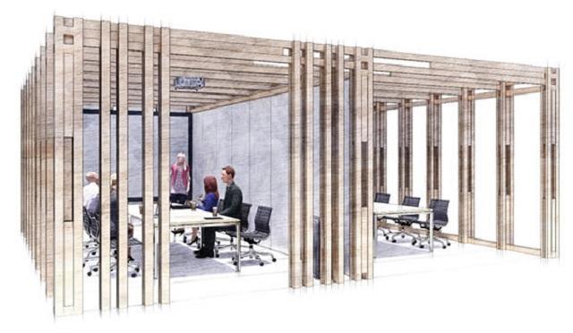 大成建設、新接合法を活用した木質空間構成フレームを開発